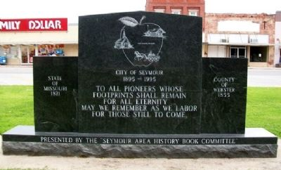 Pioneers Memorial (Side B) image. Click for full size.