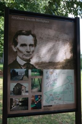 Abraham Lincoln Birthplace Marker image. Click for full size.