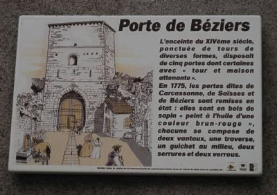 Porte de B�ziers Marker Photo, Click for full size