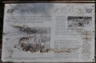 Sweet Water Spring Marker Photo, Click for full size