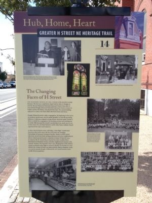 The Changing Faces of H Street Marker image. Click for full size.