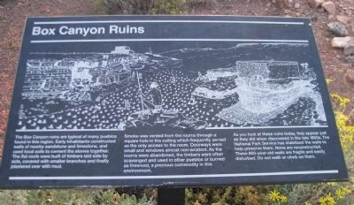 Box Canyon Ruins Marker Photo, Click for full size