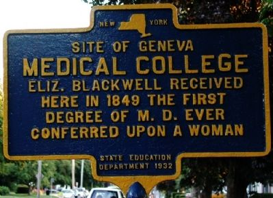 Medical College Marker image. Click for full size.