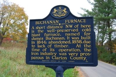Buchanan Furnace Marker image. Click for full size.