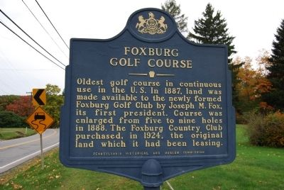 Foxburg Golf Course Marker Photo, Click for full size