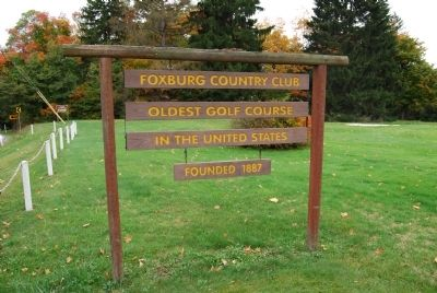 Foxburg Golf Course Information Sign Photo, Click for full size