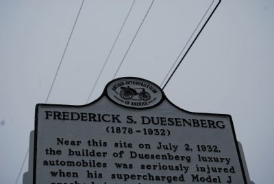 Frederick S. Duesenberg Marker Sponsor Photo, Click for full size