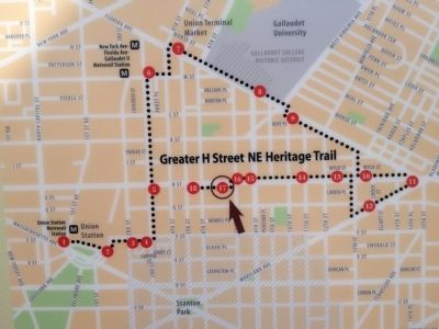 Map of the H Street Heritage Trail image. Click for full size.