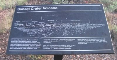 Sunset Crater Volcano Marker Photo, Click for full size