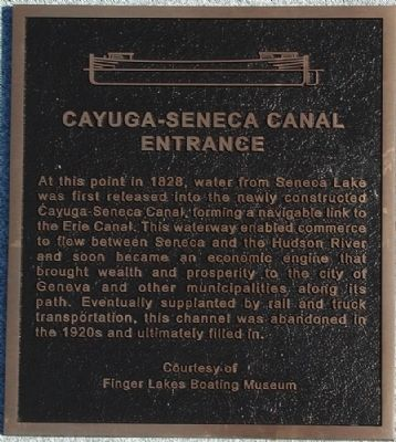 Cayuga-Seneca Canal Entrance Marker image. Click for full size.