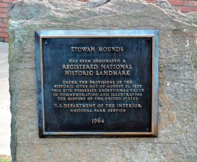Etowah Mounds National Historic Landmark Plaque Photo, Click for full size