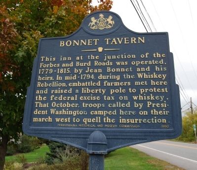 Bonnet Tavern Marker Photo, Click for full size