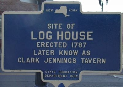 Log House Marker Photo, Click for full size