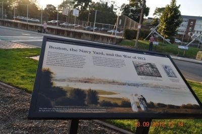 Boston, the Navy Yard, and the War of 1812 Marker image. Click for full size.