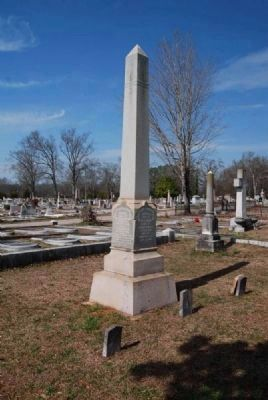 William Jackson Ligon Tombstone<br>President of the Carolina Collegiate Institute Photo, Click for full size