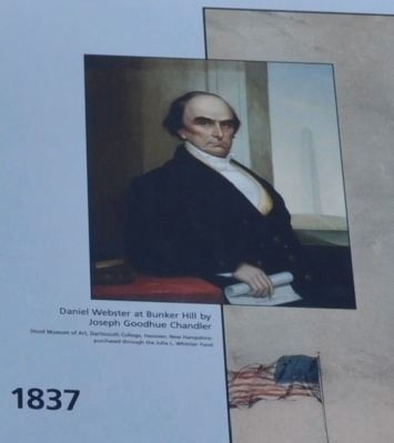 Daniel Webster at Bunker Hill by Joseph Goodhue Chandle image. Click for full size.