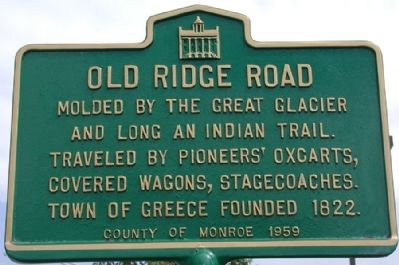 Old Ridge Road Marker Photo, Click for full size