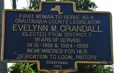 Evelynn M. Crandall Marker Photo, Click for full size