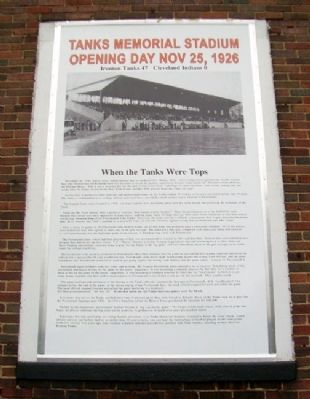 Tanks Memorial Stadium Opening Day Marker image. Click for full size.