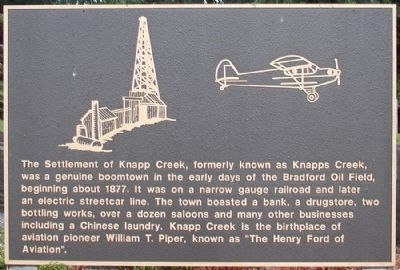 The Settlement of Knapp Creek Marker image. Click for full size.
