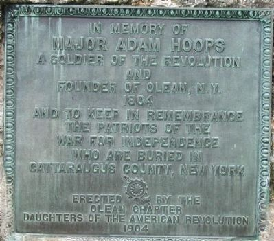 Major Adam Hoops Marker image. Click for full size.