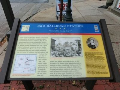 B & O Railroad Station Marker image. Click for full size.