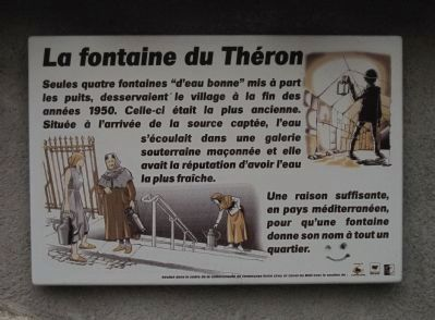 La fontaine du Th�ron Marker image. Click for full size.