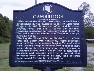 Cambridge Marker image. Click for full size.