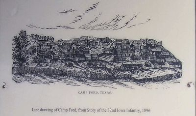 Line drawing of Camp Ford image. Click for full size.