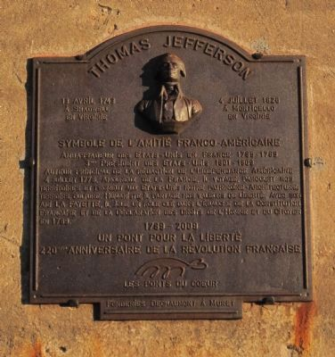 Thomas Jefferson Marker Photo, Click for full size