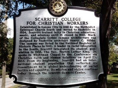 Scarritt College for Christian Workers Marker image. Click for full size.