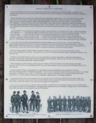 African Americans at Camp Ford Marker image. Click for full size.