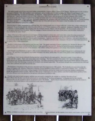 Camp Ford Confederate Guards Marker Photo, Click for full size