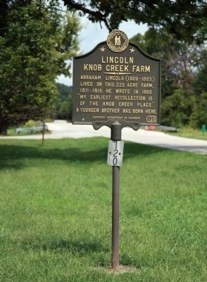 2012 Up-Date - - Looking North <br> Lincoln Knob Creek Farm Marker image. Click for full size.