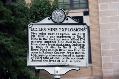 Eccles Mine Explosions Marker image. Click for full size.