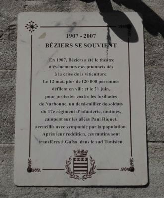 Béziers Se Souvient Marker image. Click for full size.