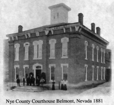 Nye County Courthouse at Belmont, Nevada image. Click for full size.