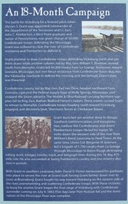 Battle for the Mississippi: The Vicksburg Campaign Marker, rightside text image. Click for full size.
