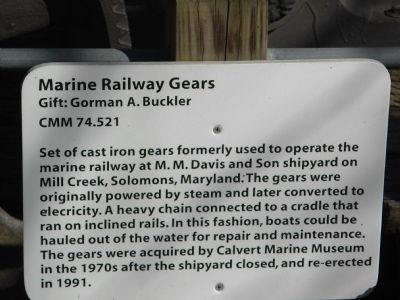 Marine Railway Gears Marker image. Click for full size.