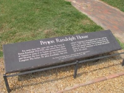 Peyton Randolph House Marker Photo, Click for full size