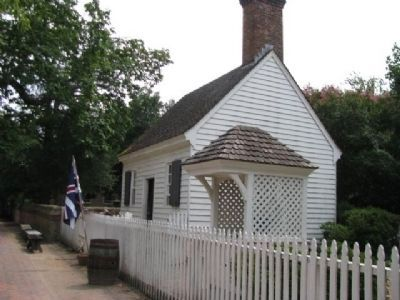 George Wythe House and Gardens outbuildings image. Click for full size.