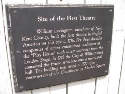 Site of the First Theatre Marker Photo, Click for full size