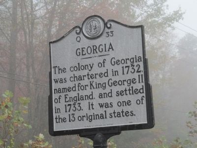 Georgia North Carolina Marker Photo, Click for full size