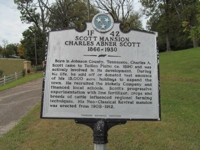 Scott Mansion Marker image. Click for full size.