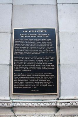 The Attar Center Marker Photo, Click for full size