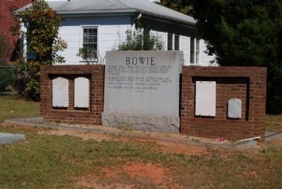 Bowie Family Memorial in Gilgal UMC Cemetery image. Click for full size.