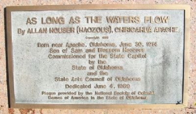 As Long As The Waters Flow Marker image. Click for full size.