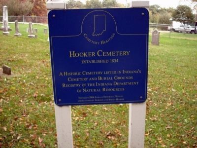 Wide View - - Hooker Cemetery Marker image. Click for full size.