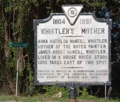 Whistler�s Mother Marker Photo, Click for full size
