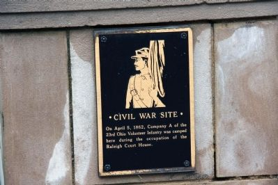Civil War Site Marker Photo, Click for full size